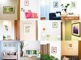 赤の富士絵画壁掛けインテリア初めてでも飾りやすい額入り(約42cm×42cm)玄関床の間和室の壁掛け和風富士山事務所会議室商談ルームの壁に飾る