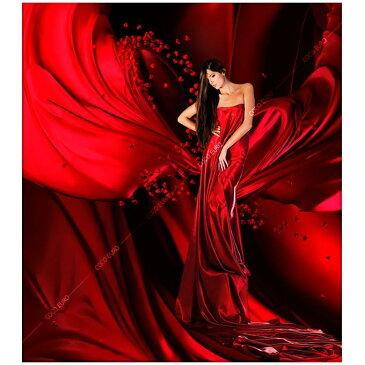 ON RED DRAPERY SIZE/mm:1500*1750 「魅せるデザインと最高級マテリアルの融合」モダンリビング 商店建築 インテリアアート最高品質 フレームレスアート 絵画 アート インテリア 壁掛け モダンアート 楽天市場限定 正規品