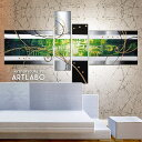 【人気のシルバー系デザイン】絵画 インテリア 壁掛け アート モダン アートパネル 抽象画 リビング 新築 緑 4枚組