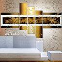絵画 インテリア 壁掛け Abstract Gold Metallic Design 人気 モダンゴールド おしゃれ アートパネル 玄関 ホール 内装アート 抽象画 金色