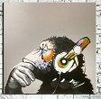 絵画 APE 猿 チンパンジー 60cmサイズ インテリアアート【額無し】黒 白黒 モノトーン 壁掛け サル 申年