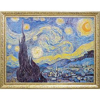 符合標準,如梵古星光燦爛的夜晚 1889年金額繪畫完成的凝膠工件博物館系列藝術幀畫室內室內景觀繪畫古典繪畫的當代藝術和電影的莫内梵古克裡姆特畫室內。 藝術選擇