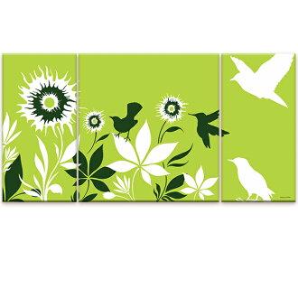 為慶祝藝術產品建設可以點綴在室內藝術 3 拆分 K Art.Japan 春天花園 L 大小畫布藝術畫布藝術攝影城市風格城市風格設計的時尚和運動部分的牆上︰ 可用的禮物