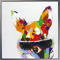 \お部屋にユニークな彩りを/絵画油絵人気のリラクゼーションアート【Mylovelyfamilyラブリーファミリー5】かわいいペットの油彩絵画子猫(こねこ)子犬(こいぬ)の絵額付き壁掛けぬくもりと癒しのモダンアートを【額付き】