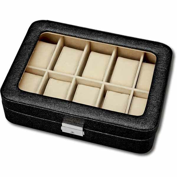 時計ボックスウォッチコレクションボックス10本ブラック