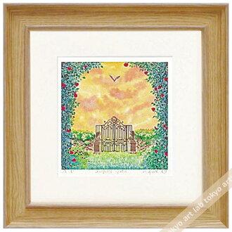 《版畫》有像天使門kurinokiharumi風景畫水彩一樣的繪畫數額繪畫額頭的水彩畫風水自然藝術面板天然藝術架子喜愛的繪畫墻壁裝飾祝賀禮品禮物母親節祝賀新居建成彩色粉筆pastel繪畫