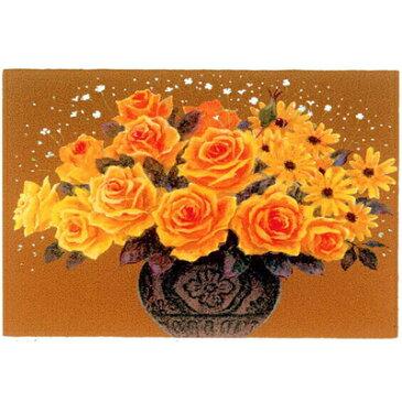 【吉岡浩太郎】開運 風水絵画『花-黄色い花-薔薇』シルクスクリーン版画『吉祥』版画額吉方 北向き-西向き-東向き-南向き 恵方に飾る