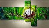 絵画油絵【世界に1つだけの手描き油彩画!】眩しいグリーン(緑)が魅力です!花柄/和柄/抽象画などの絵画リビングダイニングキッチン玄関の壁に会社オフィスに飾る壁掛けorg[tg][xl]装飾用絵画