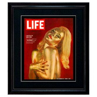 罕見的藝術海報-007 金手指生活覆蓋黑色木額頭裝裱藝術海報