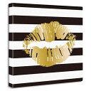 唇の絵 ファブリックパネル キャンバス おしゃれ インテリア 絵画 壁掛け キャンバス テレワーク 撮影 背景サイケデリック ポップ DJ B系 クラブ スパ サロン 教室 飾る 装飾 レトロ R&B レゲエ KISS イラストアート ストライプ GOLD