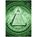 【お買物マラソン】【メール便 送料無料】ポスター インテリア アートポスター All Seeing EYE【サイズA3】ピラミッド 1ドル札 絵 New world order