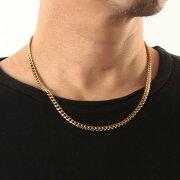 ゴールド喜平ネックレスチェーン/5mm 14kイエローゴールドカラーゴールド喜平ネックレスチェーン/サージカルステンレス製 IPゴールド/50cm
