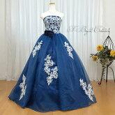 プリンセスラインカラードレス(ブルー)mss71209