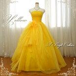 カラードレス(イエロー)黄色127ye