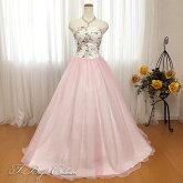 【新商品】カラードレス5号7号9号11号ピンク花柄19306