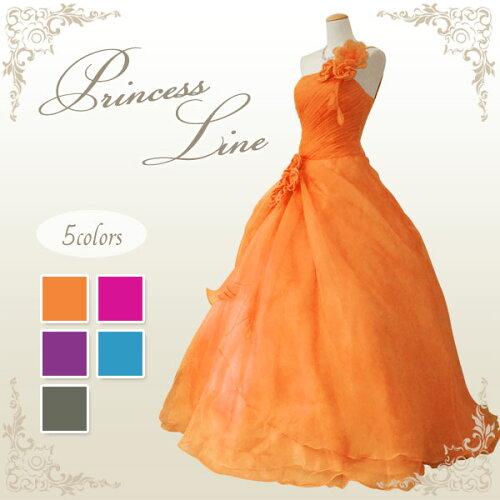 ★5〜25号★カラードレス ウエディング ロング プリンセスライン...