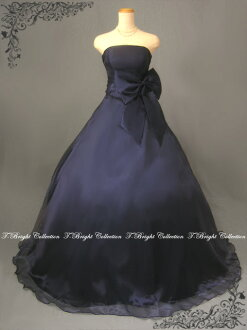 Custom dress Navy Blue Navy Blue a-line big Ribbon back lace up dress 30132nb-0