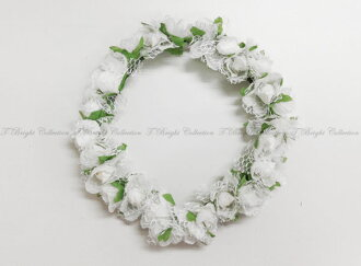 Cute flower DIAdem wouldnt white Corolla Festival wedding Bridal Accessories adult event flowers bride wedding hair hair accessories / white (h293)