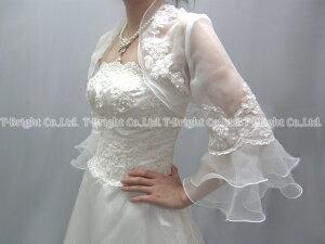 ボレロ,ドレス羽織り,会場の防寒、冷房対策にも♪ブライダル,結婚式,二次会,(再入荷)ウェディ...
