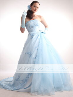 Size order back lace-up dress ★ Princess ★ (light blue) tb191