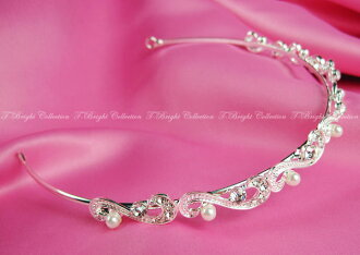 Tiara wedding headband wedding tiaras bridal accessory / hair accessories wedding bride ornament rhinestone Pearl simple (t-0503)