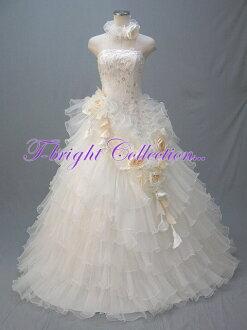 ティアード ★ princess line ★( white system / color change) 54843 of the ♪ chambermaid corsage with the wedding dress size order choker