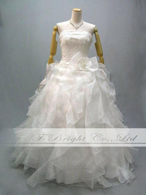 サイズオーダー ウエディングドレス★ 結婚式 ウェディング ブライダル ドレス 白 ホワイト(yh1106)