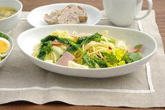 【50%OFF】シンプルスタイル+白い食器 EASTオリジナル 楕円大鉢 ホワイト 【STUDIO BASIC...