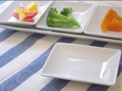 【88%OFF】オシャレな洋食器白磁 スクエア10cm ミニプレート ホテル食器/正角皿/しょうゆ皿/...