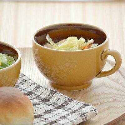 カラメルトルテ 塗り分けスープカップ