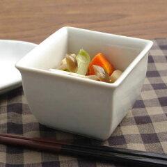 【75%OFF】在庫処分セール!シンプル 四角小鉢9.5cm(白) アウトレット食器/和食器/激安/ス...