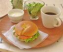 木のぬくもり。おうちカフェにおすすめ。木製 30cm 丸トレー 木のトレイ/ナチュラル/木のお...