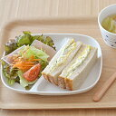 ランチプレート カフェ仕切り ホワイト 白い食器/白いランチプレート/子供用食器/仕切り皿/カフェ食器/モーニングプレート/ポーセリンアート