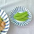 和食器 三角3.5寸小皿 染付け ダミ十草 (アウトレット込み)和食器/小皿/和の小皿/銘々皿/お皿/染付小皿/プレート