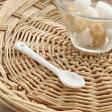 陶製スパイススプーン (大) ホワイト    薬味匙/小さなスプーン/スプーンミニ/陶器製/雑貨