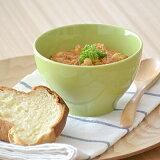 カラフルカフェオレボウル(グリーン)ボウル/中鉢/カラフルな食器/カフェ食器/丼ぶり