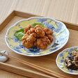 黄彩ぶどう  菊型中皿     和食器/赤絵/プレート/お皿/和風/取り皿/ぶどう