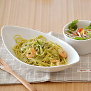 【58%OFF】カフェ風ごはんを楽しむ♪シンプルな白い食器。 CAFEリーフボウル 27cm (ホワイ...