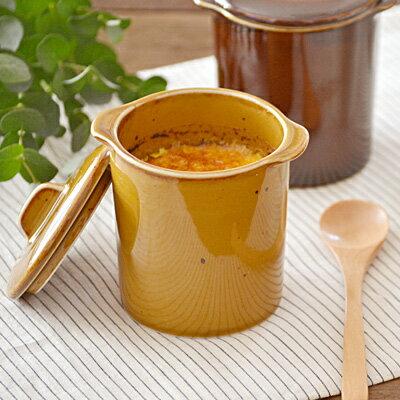茶碗蒸し 和カフェスタイル ジャポネココット蓋付(キャラメル)