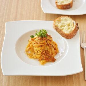(リストランテ) ウェーブ 幅広スープ (24.5cm) (アウトレット込み)   大皿/スープ皿/白い食器/ホテル食器/スタイリッシュ/お皿/ポーセラーツ