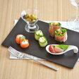 角皿 EASTオリジナル フラットプレート 29cm (黒マット) (アウトレット込み)和食器/黒い食器/おもてなし食器/刺身皿/美濃焼/日本製/角皿/おしゃれ
