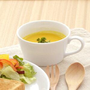 クレール ホワイトスープカップスープカップ シンプル スープマグ デザート ポーセリンアート