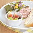 ホワイトスフレカップ (8cm)    白い食器/おうちカフェ/オーブン使用可能/ココット/離乳食食器/ベビー食器
