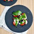 スレートプレート ラウンド 25cmスレートボード/丸皿/チーズボード/パーティー食器/前菜皿/サラダ皿