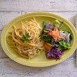 ドット オーバルプレート 27cm イエローマット  パスタ皿/中皿/楕円皿/お皿/サラダ皿/和食器/カフェ食器