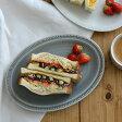 ドット オーバルプレート 24cm マットグレー  パスタ皿/中皿/楕円皿/お皿/サラダ皿/和食器/カフェ食器