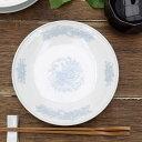 【お1人様2個まで】花鳥染付 中華丸皿 18.5cm取り皿/中皿/中華...