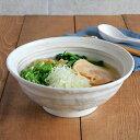 刷毛目粉引 6.8寸ラーメン丼丼ぶり/ラーメン丼ぶり/麺鉢/盛り鉢/丼...