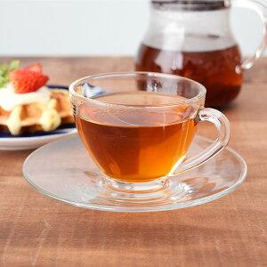 ガラス製 コスモティーカップ&ソーサーガラス食器 ガラス製 ティーカップ カップアンドソーサー 紅茶 カフェ食器 おしゃれ 来客用 カフェ風 おもてなし シンプル