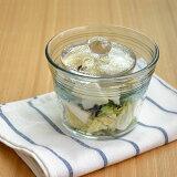簡単浅漬け鉢ガラス製漬物容器/浅漬け名人/漬物鉢/マリネ/漬物石